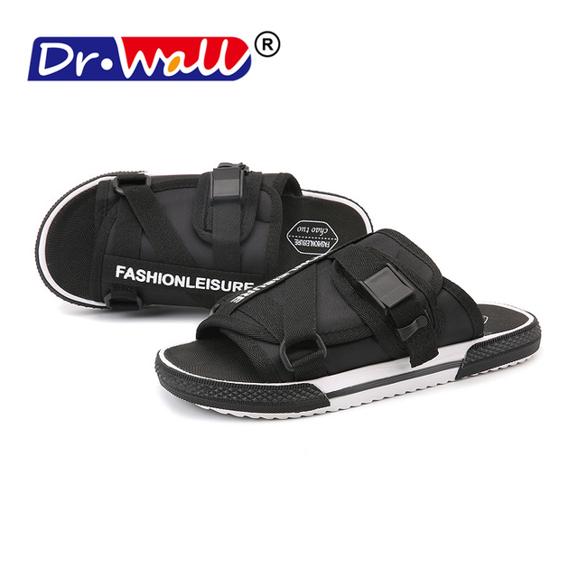 2185aac6cbd8 Men Slides Sandal Buckle Adjustable shoes with Arch Support Comfort Beach  Slippers Summmer Comfortable Outdoor Sandals for Mens
