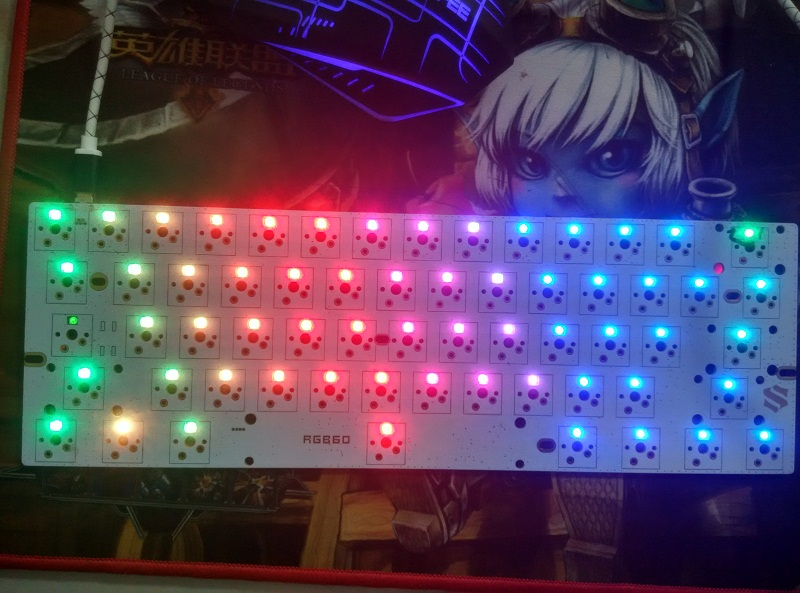 GH60 PCB RGB plate DIY LED Satan mini compact poker 2 KBT Pure mechanical keyboards cherry mx compatible tkl 87 PCB keycool 84 kbt туфли kbt r4471 1 1