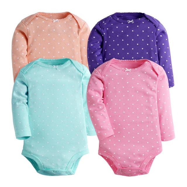 Ropa 2017 Nuevo Bebé Recién Nacido del Mameluco Ropa de bebé Producto Del Bebé de La Muchacha Infantil Ropa de Bebé de Manga larga Del Cuerpo para los recién nacidos