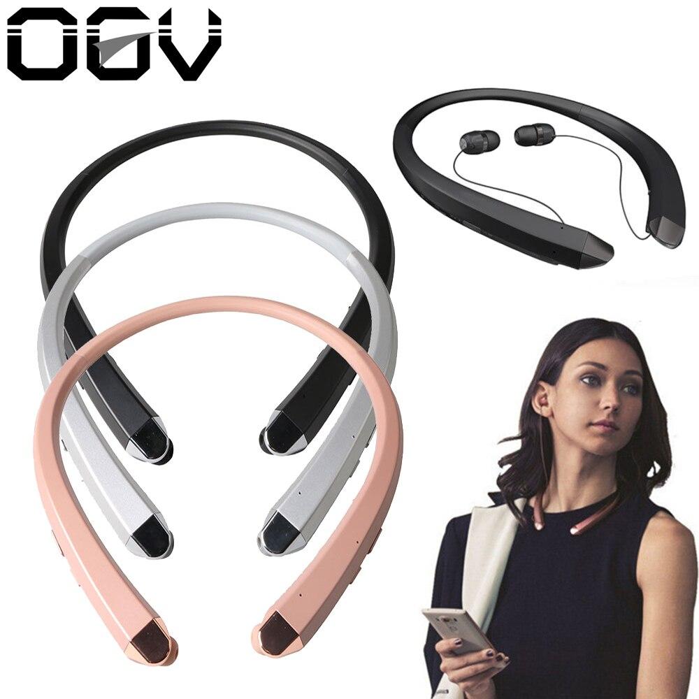 Ogv HBS-910 наушники беспроводные наушники <font><b>Bluetooth</b></font> Шейным Спорт гарнитура Bluedio Функция шумоподавления наушники для iPhone Xiaomi