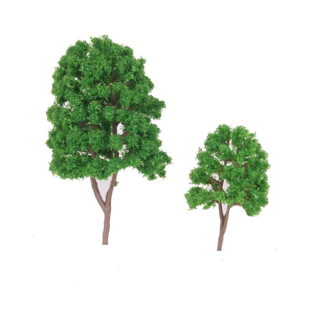 20 sztuk drzewa Model pociągu sceneria krajobraz N skala 1/150 plastikowe Model architektoniczny dostarcza zestawy budowlane zabawki dla dzieci