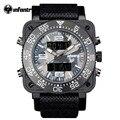 Infantry top brand reloj de los hombres relojes deportivos militar camuflaje digital de múltiples funciones de nylon correa de caucho relojes de pulsera dial