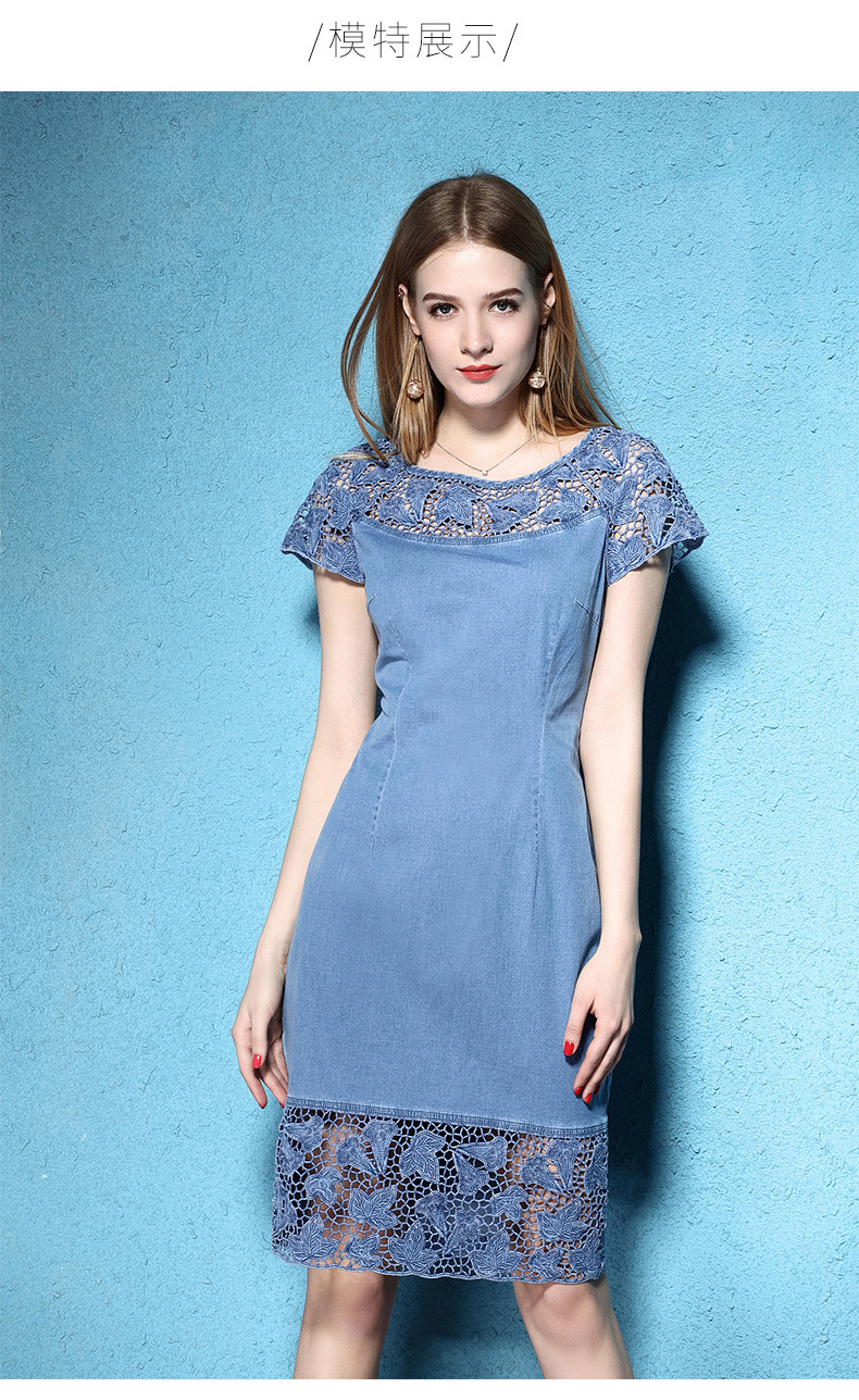 lace Nordic tencel short-sleeved 4