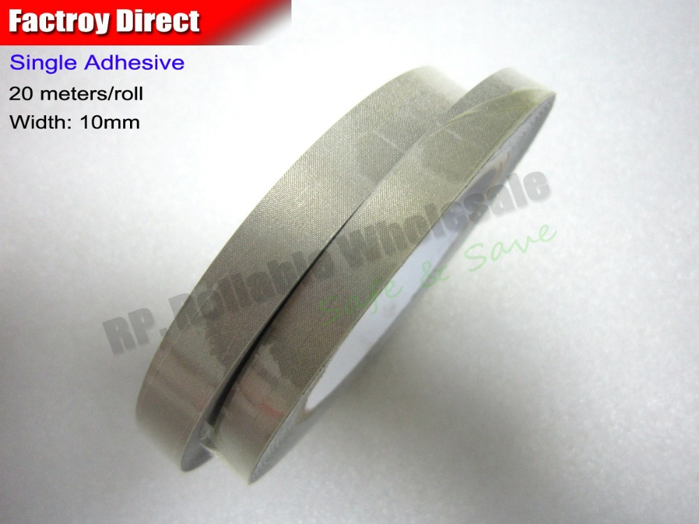 1 Roll 10mm* 20M EMI shielding, Single Adhesive Conductive Fabric Cloth Tape for PC Cell Phone Tablet LCD Keyboard Cable sheetrock drywall self adhesive mesh wall repair fabric joint tape roll