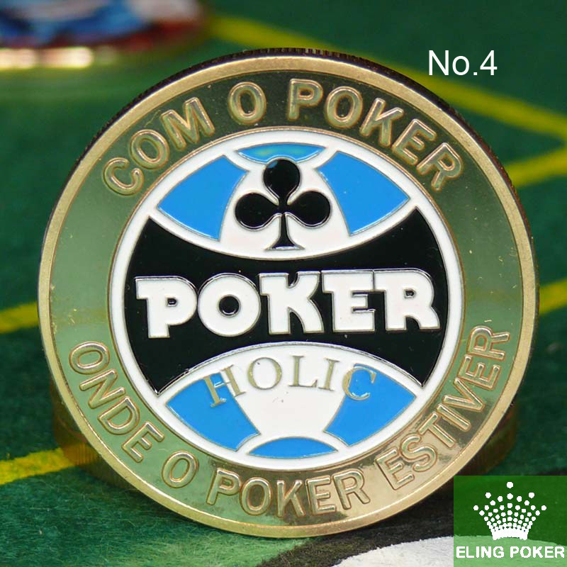 Metal for Pressing Poker Cards Guard Protector No.4  HOLIC  Poker Chips Souvenir Coins