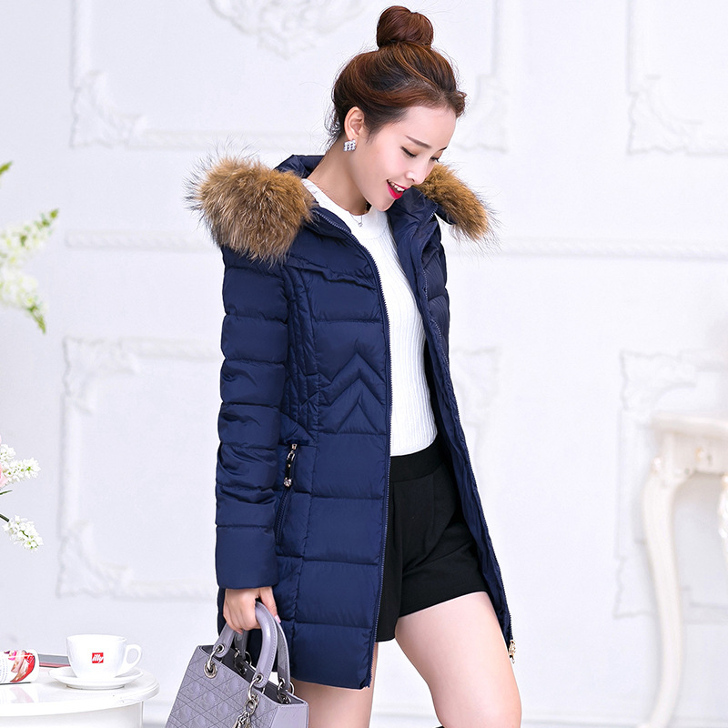The new long section thick winter coat female Slim large size women s coat