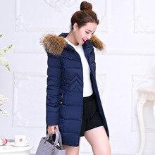 Новый длинный участок толстые зимнее пальто женский тонкий большой размер женских пальто