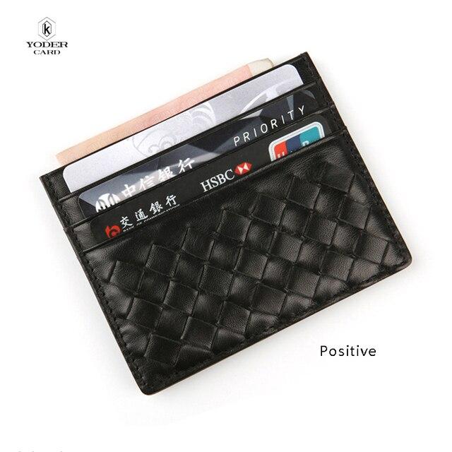Genuine Leather Soft Men Business id Card Holder Slim Bank Credit Card Card Holder for Women Bus Case Bag Wallets Holder Money