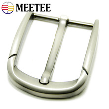 Meetee 5Pcs 40mm Metal Belt Buckles Fashion Men Women Belt Pin Buckle for 38-39mm Belt Head DIY Leather Craft Belt Accessories 1x 40mm metal belt buckle center bar single pin buckle men s fashion belt buckle fit 37 39mm belt leather craft accessories