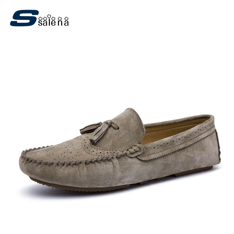 Men Casual Shoes Breathable New Fashion Leather Men Loafers Spring Autumn Breathable Driving Shoes AA30139 2017 new fashion summer spring men driving shoes loafers real leather boat shoes breathable male casual flats