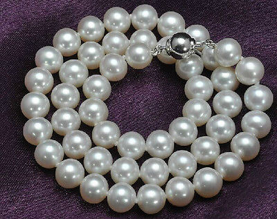 classic AAA 10-11mm south sea round white pearl necklace 18inch >Selling jewerly free shipping наволочки other 45 45 18inch