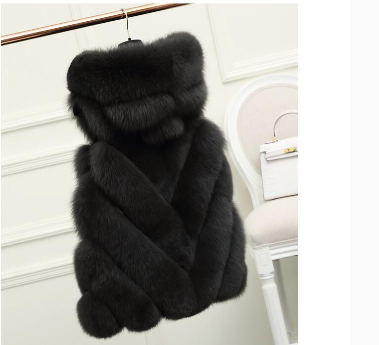 Европейский Лидер продаж v-Стиль капюшоном натуральный Жилет с лисьим мехом стильные зимние Меховые пальто Куртки Wholeasale