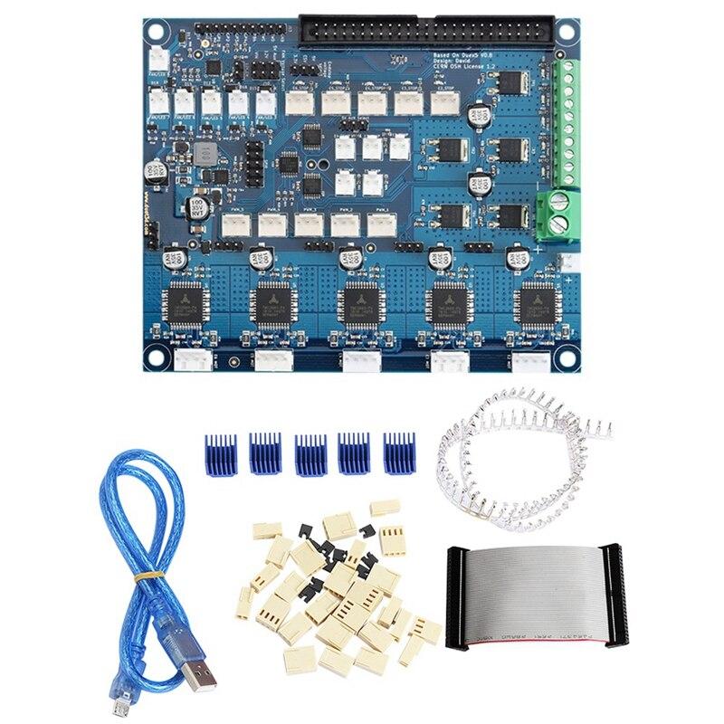 Placa de expansão clonada duex5 duex com suporte tmc2660 para termopar ou placas filha pt100 para impressora 3d e cnc machin