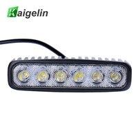 Kaigelin 18 W Spotlight LED Car Light Bar Impermeable LED 12 V Del Coche trabajo Bombillas Para Automóviles Auto Campo A Través del Barco del Carro SUV Del Coche lámparas