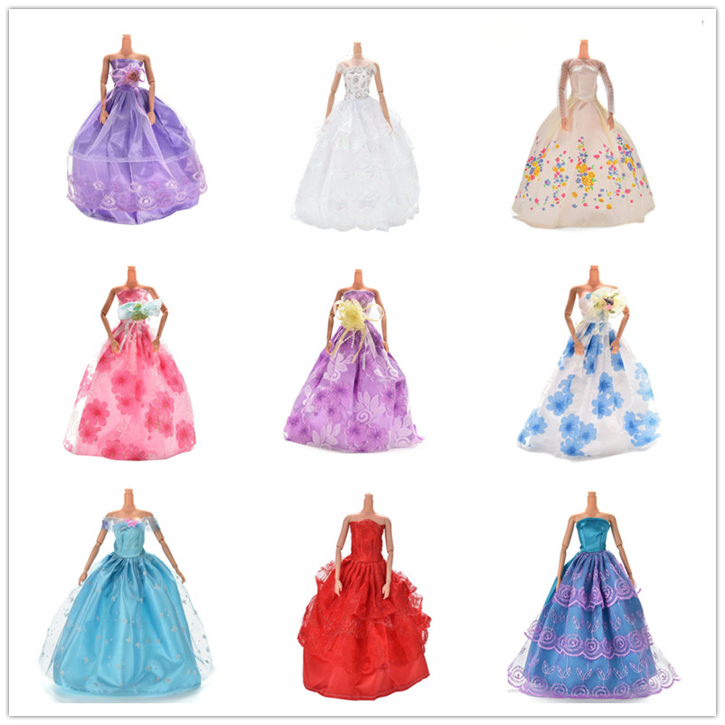 Hot Sale Elegant Multi Layers Wedding Lace Dress For  Doll Luxury Floral Doll Dress Clothes Clothing Dolls Hat Accessories