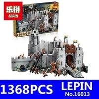 Lord Of The Rings Series LEPIN 16013 1368pcs Battle Of Helm Deep Model Building Blocks Bricks