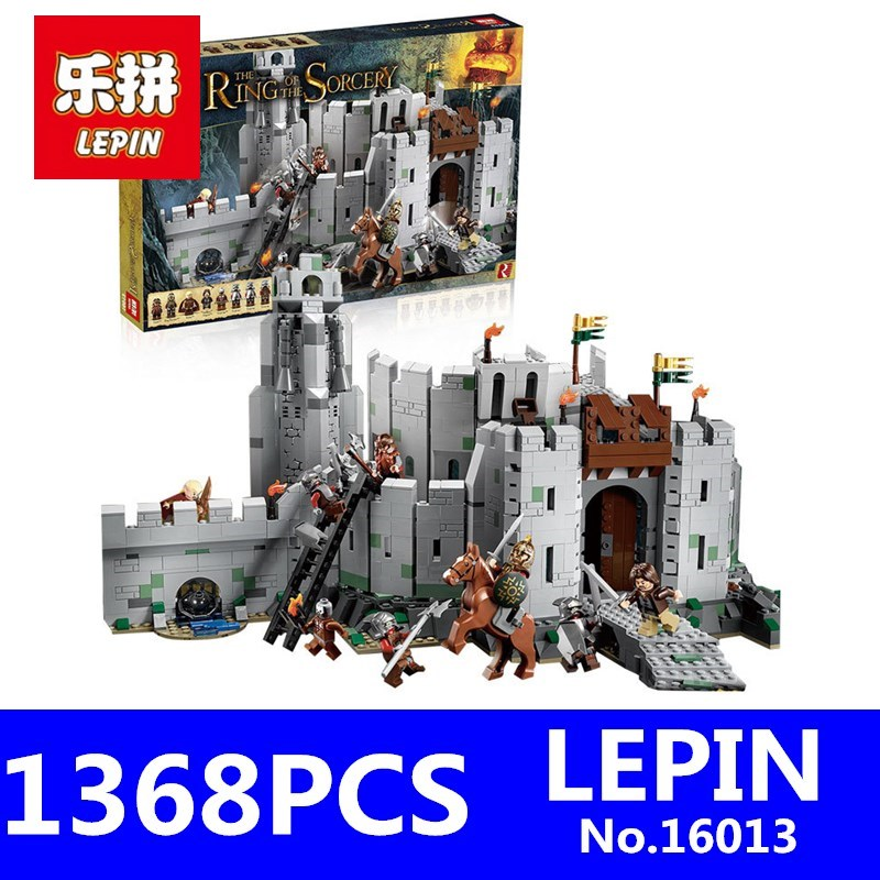 LEPIN 16013 1368pcs Movie Series Lord of the Rings Battle Of Helm' Deep Model Building Blocks Bricks for Children Toys hot sale the hobbit lord of the rings mordor orc uruk hai aragorn rohan mirkwood elf building blocks bricks children gift toys