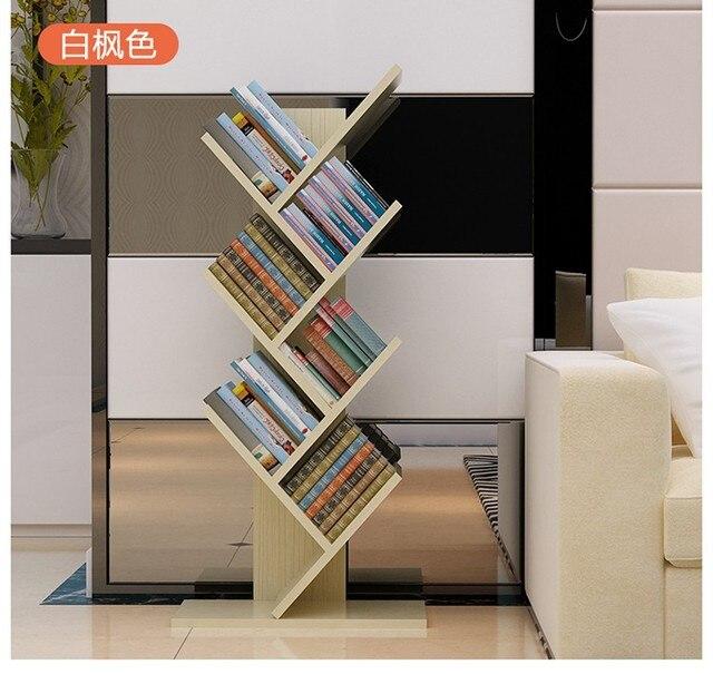 104cm Eco-friendly 7 layers Creative tree style Bookcases  Portable shelves Bedroom bookshelf