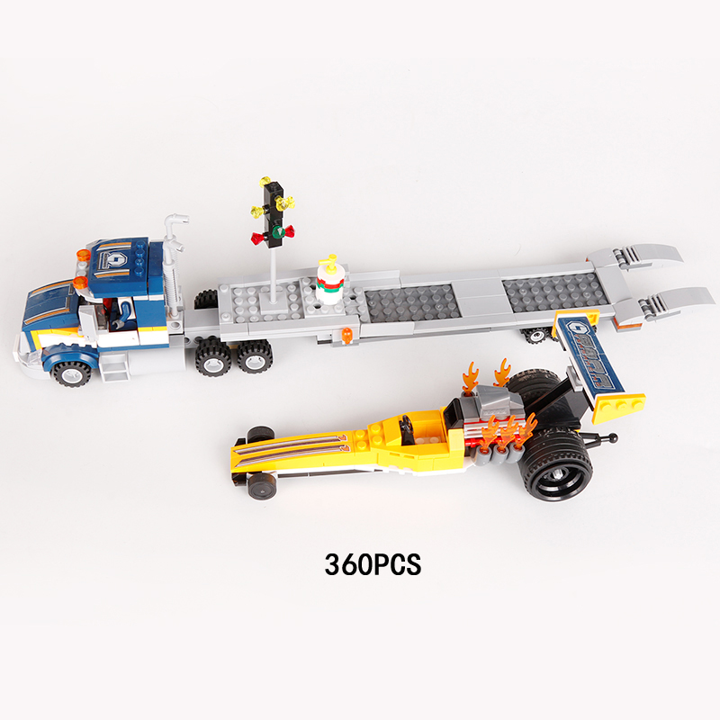Hot Formula one high speed racing dragster transport building block F1 Racer figures Flatbed bricks 60151 city toys for children lepin 02025 city the high speed racer transporter 60151 building blocks policeman toys for children compatible with lego