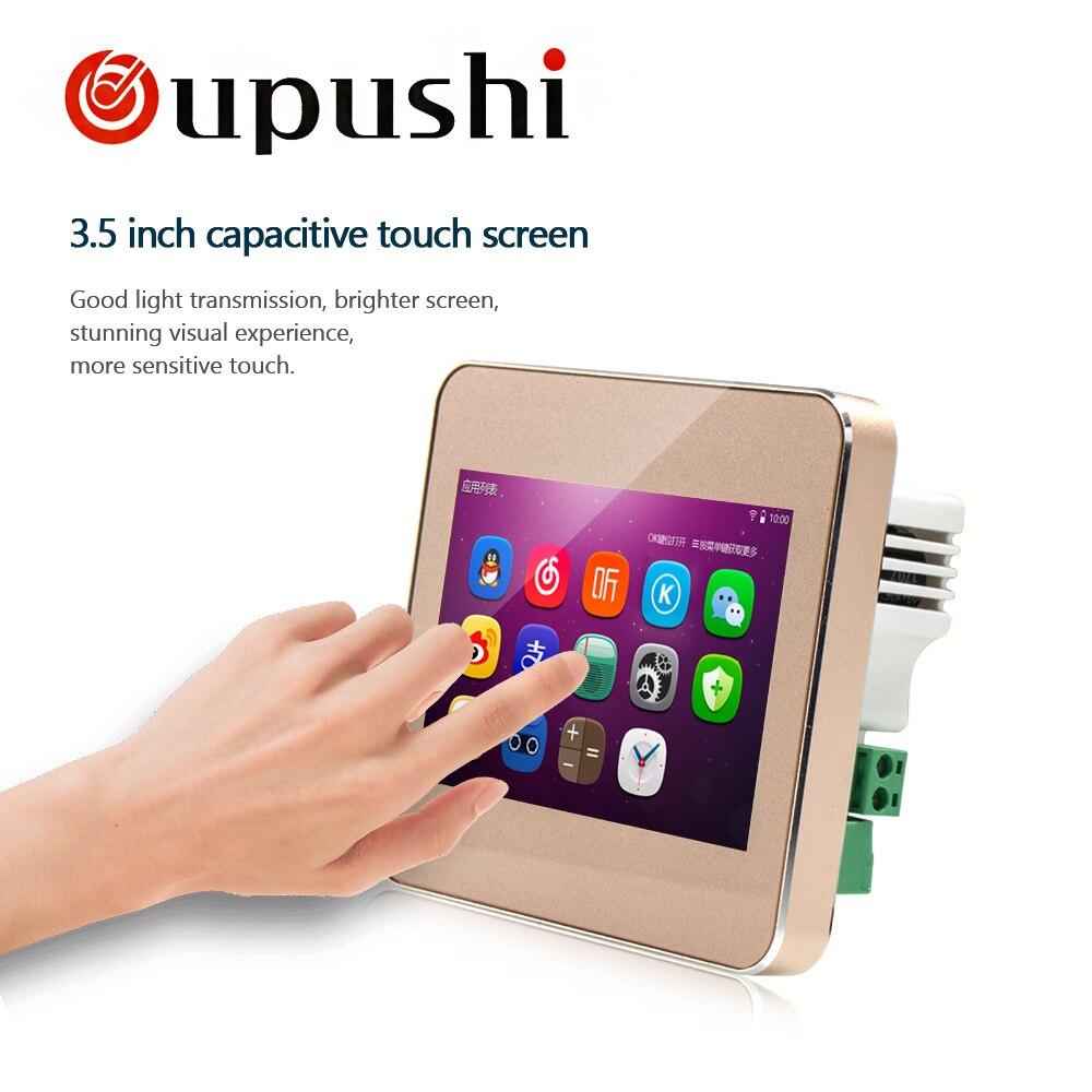 Oupush i A5 Audio visuel dans le mur arrière-plan contrôleur de musique Bluetooth numérique home cinéma système Home Office hôtel magasin