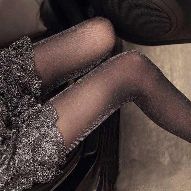 Buy New Shiny Pantyhose Glitter Stockings Womens Glossy Tights Women Fashion Clothing Accessory Black Sexy Stockings Free Shipping
