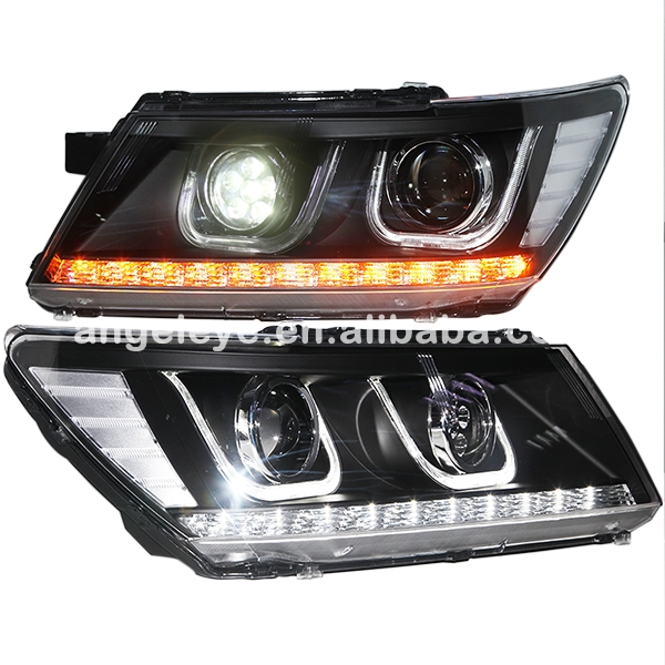 2009 2014 Year For Dodge Journey JCUV LED Head Lamp Headlights front light with LED high beam ZJ