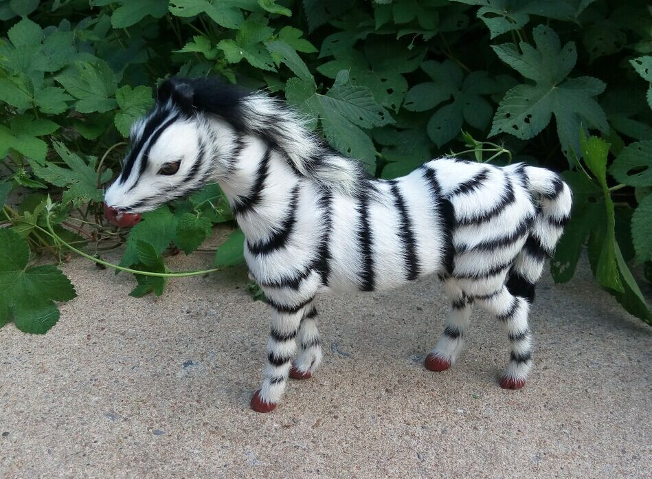 ФОТО middle simulation balck&white zebra toy lifelike zebra doll gift about 30x24cm