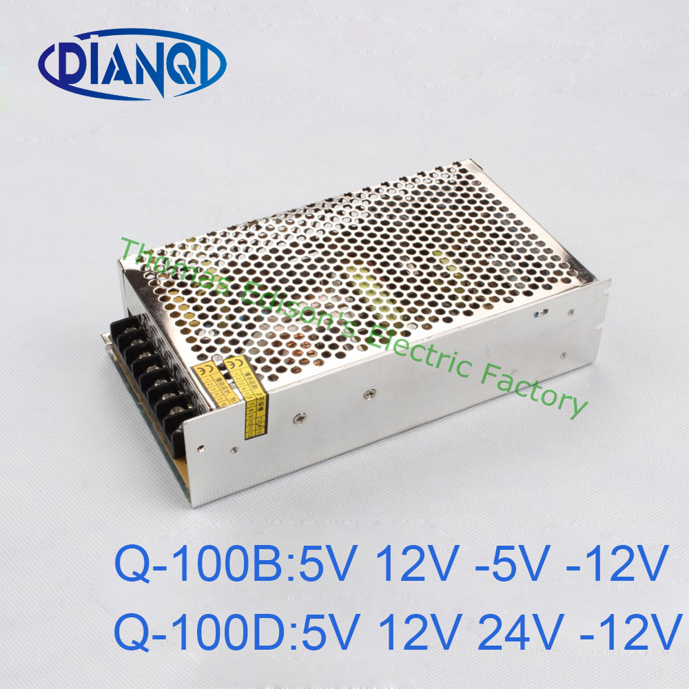 DIANQI quad output Switching power supply 100W 5V 12V 24V -12V power suply Q-100D  ac dc converter good quality meanwell 12v 350w ul certificated nes series switching power supply 85 264v ac to 12v dc
