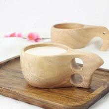 Новинка, ручная работа, деревянная чашка из бука в скандинавском стиле, финские традиционные уличные деревянные чашки для вина, кофейные чайные чашки со слоном, для домашнего подарка