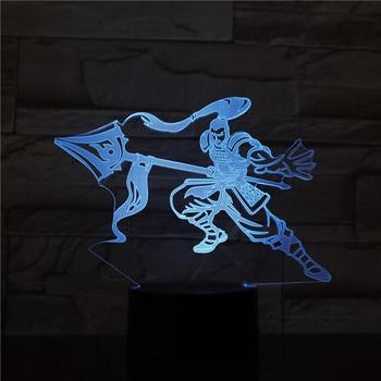 League of Legends LoL héroes lámpara de mesa dormitorio Sensor táctil 7 colores que cambian el SENESCHAL de la luz nocturna LED