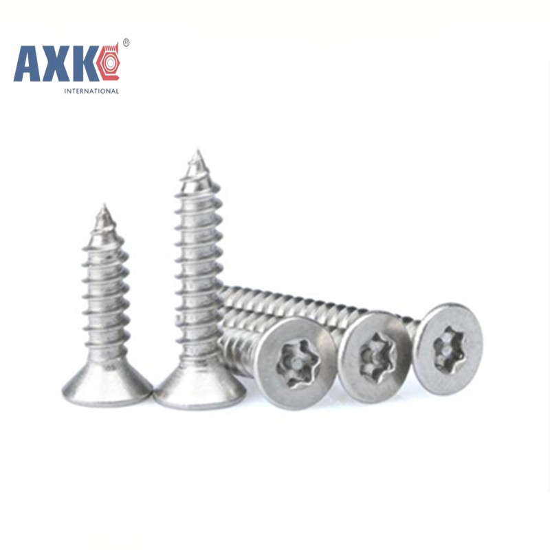 все цены на  50Pcs ST2.2*5 GB2670.2 ISO14586 304 Stainless Steel Self-tapping Torx Screws Six-Lobe Screws AXK124  онлайн