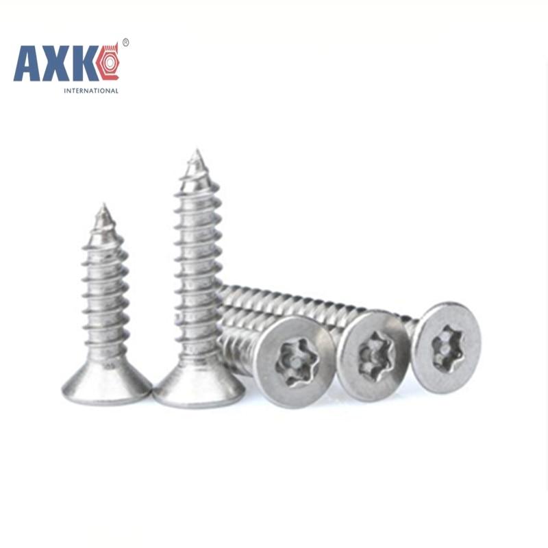 50Pcs ST2.2*5 GB2670.2 ISO14586 304 Stainless Steel Self-tapping Torx Screws Six-Lobe Screws AXK124 niko 50pcs chrome single coil pickup screws
