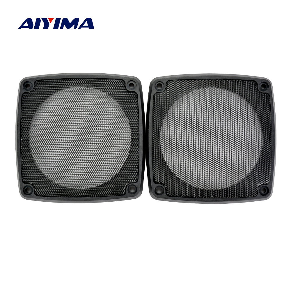 Aiyima 2pcs 6 inch Square protective grille car speaker loudspeaker protective cover iron net meshes