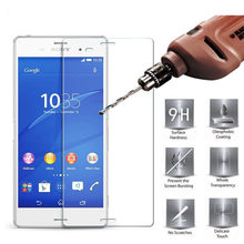 sFor Glass Sony Xperia Z3 Tempered Glass for Sony Xperia Z3 Screen Protector for Sony Z3 Glass D6603 D6653 D6616 L55T(China)