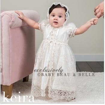 168bd58d5 Bebé niña vestido blanco 2018 vestido infantil artículos de bebé vestido de  bautismo vestido de niña recién nacida diseño de encaje traje de cumpleaños  2Y