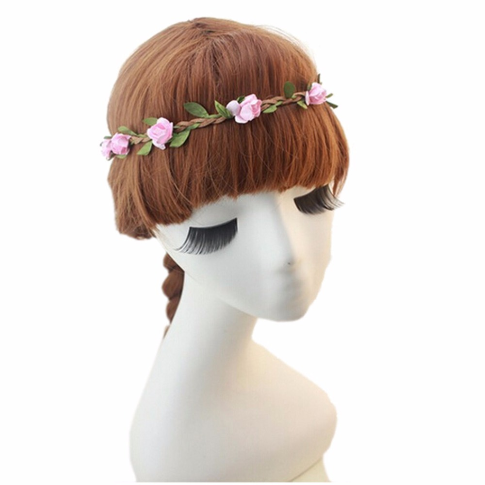 Online get cheap hair flower crown aliexpress alibaba group 5pcslot pink kids girls flower garland headband beach wreath floral flowers crown hair bands dhlflorist Choice Image