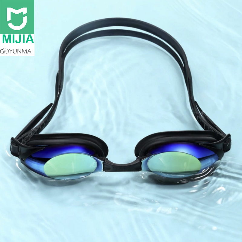 Xiaomi Fashion Swimming Glasses Hd Anti-fog Goggles Colorful Plating Clear Fit Skin Nasal Clip Earplug For Adult Eyewear Smart Remote Control