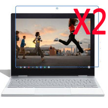 2x Clear Films +2x Clothing , Retail Package LCD Screen Protector Film Guards For Google Pixelbook 12 12.3'' Tablet Chromebook(China)