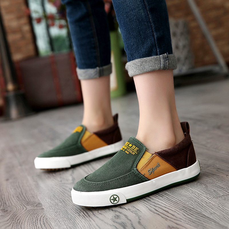 2017 New Spring/Summer Jean canvas girls boys shoes breathable children casual shoes Cool Patch high quality kids sneakers