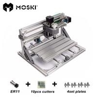 MOSKI, cnc3018 met ER11, diy mini cnc laser graveermachine, Pcb Freesmachine, hout router, lasergravure, cnc 3018, beste speelgoed