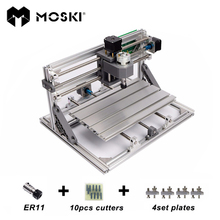MOSKI, cnc3018 mit ER11, diy mini cnc laser graviermaschine, Pcb Fräsmaschine, holz router, lasergravur, cnc 3018, beste spielzeug