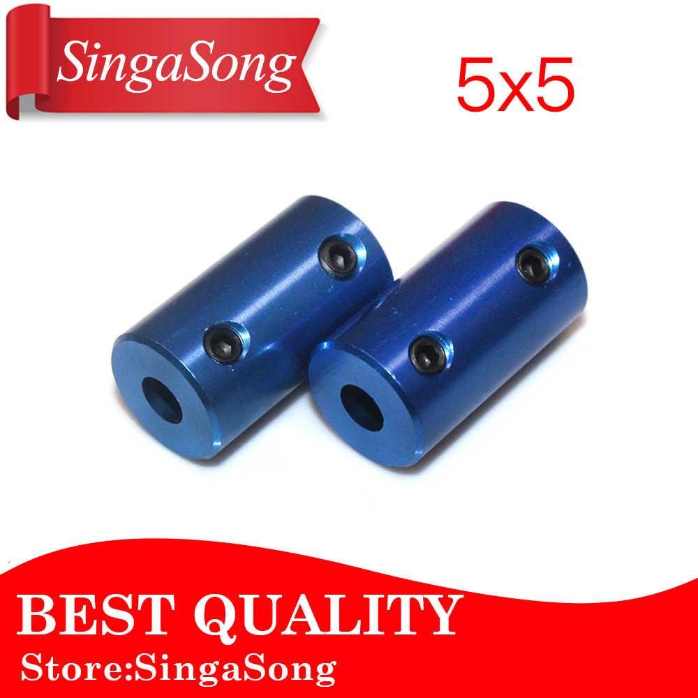 Liga de alumínio de Acoplamento Furo 5 milímetros 8mm 3D Impressoras Peças Azul Parte Parafuso Para Stepper Motor Flexível Acoplador Do Eixo acessórios