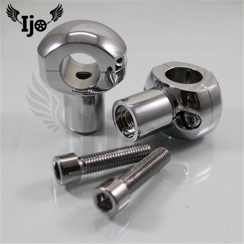 top quality chrome silver black moto parts motorbike handle bar adapter mount for harley 25MM 28MM motorcycle handlebar riser