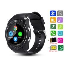 Смарт-часы V8 часы с Bluetooth на Android Для женщин SIM IP67 Водонепроницаемый Сенсорный экран SMS iOs часы Смарт часы с встроенным телефоном DZ09 Smartwatch
