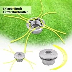 Aluminium Gras Trimmer Kopf Mit 4 Linien Pinsel Cutter Kopf Gewinde Nylon Gras Schneiden Linie Kopf für Strimmer Ersatz