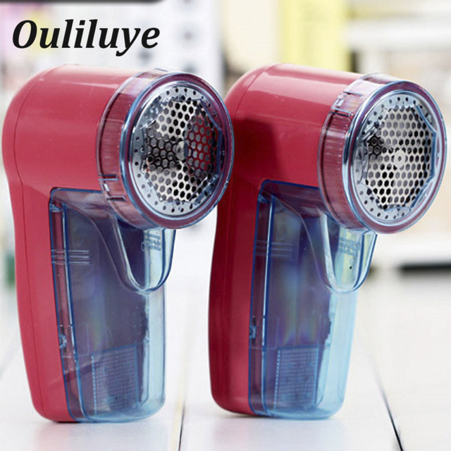 Portable Electric Clothing Lint Pill Clothes Lint Remover Fabric Sweater Shaver Fuzz Spooling Machine Pellets Removal Cutter Red