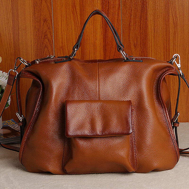 2017 New Women Fashion Genuine Cow Leather Large Capacity Luxury Handbags Female Brand Shoulder Bag Casual Tote Cross Body Bag miwind 2017 new women bag cow oil wax leather handbags letter v shoulder bags female luxury casual totes simple fashion portable