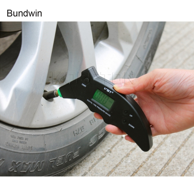 bundwin Electronic Car Tire Pressure Gauge Auto Bike Motorcycle Tyre Air Pressure Meter Tester Monitor Diagnostic Tool