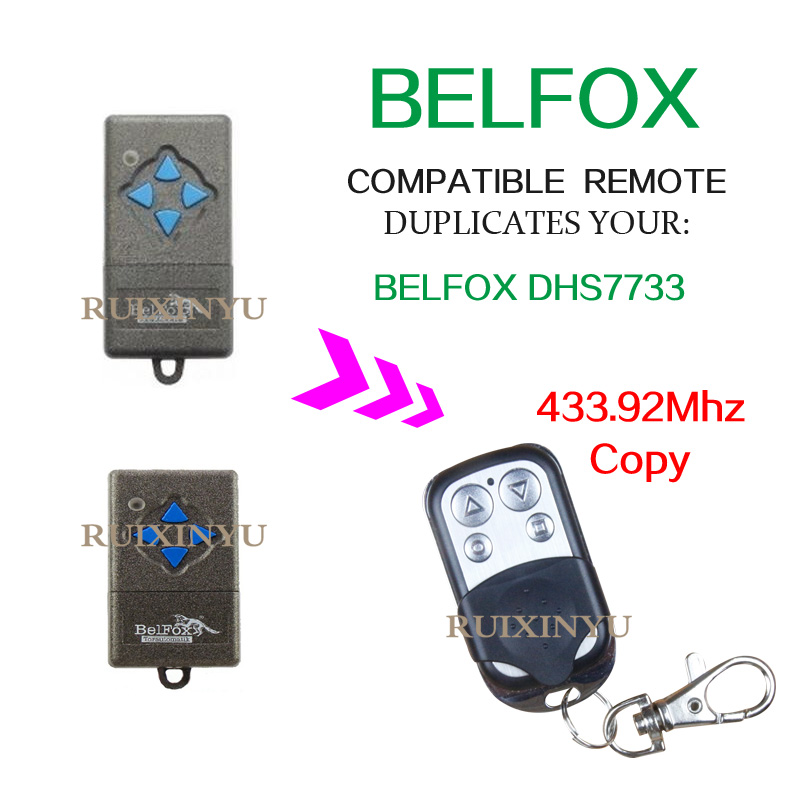 Garage door flap doorway gate retractable door sliding door open door remote control BELFOX DHS7733 High quality 433.92Mhz copy
