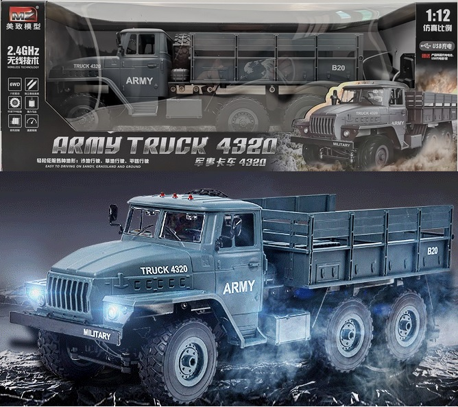 Original Gift packaging RC Truck 1:12 simulation full-size Soviet Ural Military Truck model off-road Remote Control Car Gifts